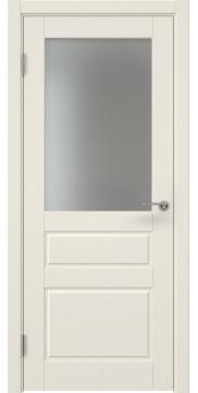 Межкомнатная дверь ZK013 (эмаль слоновая кость, матовое стекло) — 7037