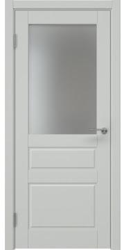 Межкомнатная дверь ZK013 (эмаль светло-серая, матовое стекло) — 7040