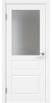Межкомнатная дверь ZK013 (эмаль белая, матовое стекло) — 7043
