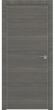 Межкомнатная дверь, ZM001 (экошпон ольха, глухая, алюминиевая кромка)
