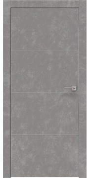 Межкомнатная дверь ZM002 (экошпон «бетон» / глухая) — 0823