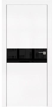 Межкомнатная дверь ZM003 (экошпон белый / лакобель черный) — 0834