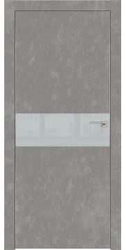 Межкомнатная дверь ZM003 (экошпон «бетон» / лакобель светло-серый) — 0837