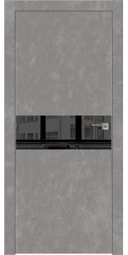 Межкомнатная дверь ZM003 (экошпон «бетон» / зеркало тонированное) — 0835