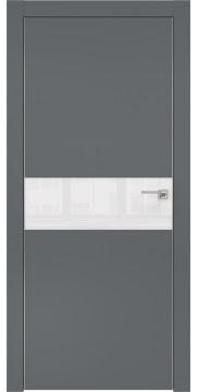 Межкомнатная дверь ZM003 (экошпон «графит» / лакобель белый) — 0841