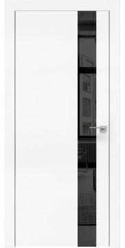 Межкомнатная дверь, ZM004 (экошпон белый, зеркало тонированное, алюминиевая кромка)