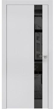 Межкомнатная дверь, ZM004 (экошпон светло-серый, зеркало тонированное, алюминиевая кромка)