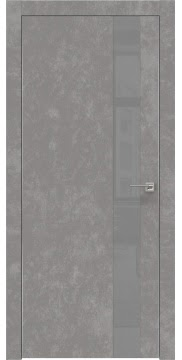 Межкомнатная дверь ZM004 (экошпон «бетон» / лакобель серый) — 0804