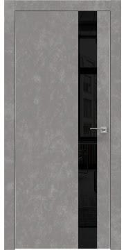 Межкомнатная дверь ZM004 (экошпон «бетон» / лакобель черный) — 0805
