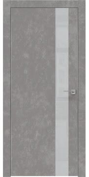 Межкомнатная дверь ZM004 (экошпон «бетон» / лакобель светло-серый) — 0803