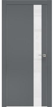 Межкомнатная дверь ZM004 (экошпон «графит» / лакобель белый) — 0807