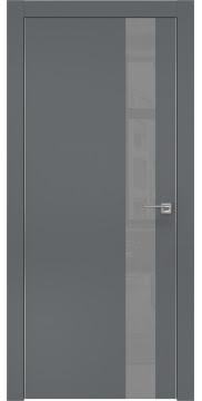 Межкомнатная дверь ZM004 (экошпон «графит» / лакобель серый) — 0809