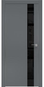 Межкомнатная дверь ZM004 (экошпон «графит» / лакобель черный) — 0810