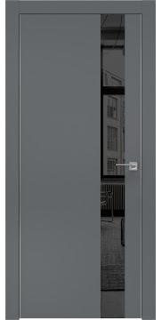 Межкомнатная дверь ZM004 (экошпон «графит» / зеркало тонированное) — 0806
