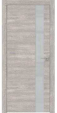 Межкомнатная дверь ZM004 (экошпон «серый дуб патина» / лакобель светло-серый) — 0813