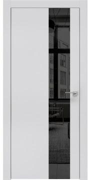 Межкомнатная дверь ZM005 (экошпон светло-серый / зеркало тонированное) — 0849