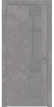 Межкомнатная дверь ZM005 (экошпон «бетон» / лакобель серый) — 0862