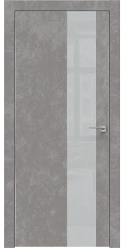 Межкомнатная дверь ZM005 (экошпон «бетон» / лакобель светло-серый) — 0861