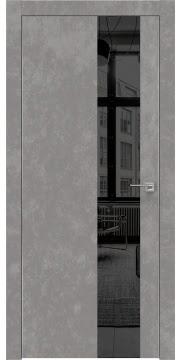Межкомнатная дверь ZM005 (экошпон «бетон» / зеркало тонированное) — 0859