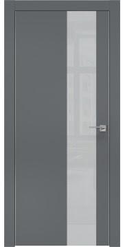 Межкомнатная дверь ZM005 (экошпон «графит» / лакобель светло-серый) — 0866
