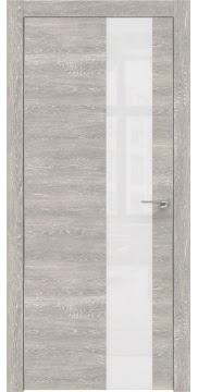 Межкомнатная дверь ZM005 (экошпон «серый дуб патина» / лакобель белый) — 0477