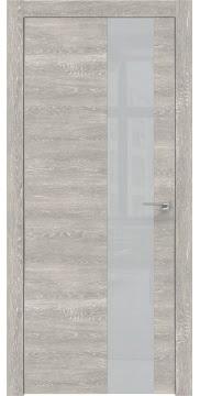 Межкомнатная дверь ZM005 (экошпон «серый дуб патина» / лакобель светло-серый) — 0478