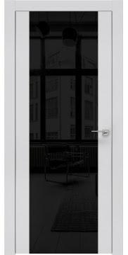 Межкомнатная дверь ZM006 (экошпон светло-серый / лакобель черный) — 0874