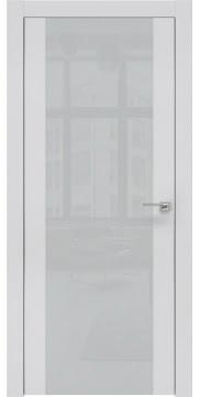 Межкомнатная дверь ZM006 (экошпон светло-серый / лакобель светло-серый) — 0872