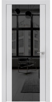 Межкомнатная дверь ZM006 (экошпон светло-серый / зеркало тонированное) — 0870