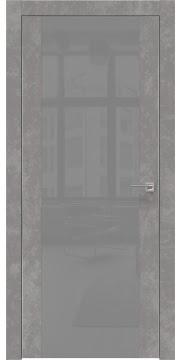 Межкомнатная дверь ZM006 (экошпон «бетон» / лакобель серый) — 0883
