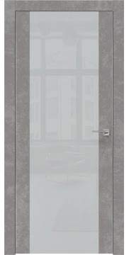 Межкомнатная дверь ZM006 (экошпон «бетон» / лакобель светло-серый) — 0882