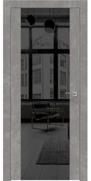 Межкомнатная дверь ZM006 (экошпон «бетон» / зеркало тонированное) — 0880