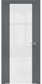 Межкомнатная дверь ZM006 (экошпон «графит» / лакобель белый) — 0886