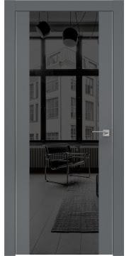 Межкомнатная дверь ZM006 (экошпон «графит» / зеркало тонированное) — 0885