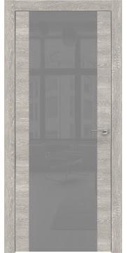 Межкомнатная дверь ZM006 (экошпон «серый дуб патина» / лакобель серый) — 0538