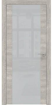 Межкомнатная дверь ZM006 (экошпон «серый дуб патина» / лакобель светло-серый) — 0891