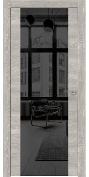 Межкомнатная дверь ZM006 (экошпон «серый дуб патина» / зеркало тонированное) — 0890