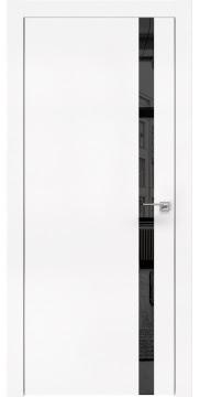 Межкомнатная дверь, ZM007 (экошпон белый, зеркало тонированное, алюминиевая кромка)