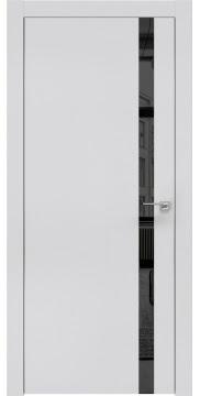 Межкомнатная дверь, ZM007 (экошпон светло-серый, зеркало тонированное, алюминиевая кромка)