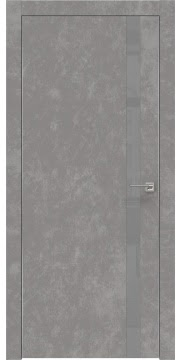 Межкомнатная дверь ZM007 (экошпон «бетон» / лакобель серый) — 0905
