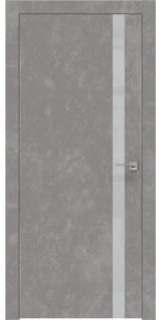 Межкомнатная дверь ZM007 (экошпон «бетон» / лакобель светло-серый) — 0904