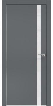 Межкомнатная дверь ZM007 (экошпон «графит» / лакобель белый) — 0908