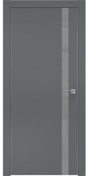 Межкомнатная дверь ZM007 (экошпон «графит» / лакобель серый) — 0910
