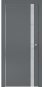 Межкомнатная дверь ZM007 (экошпон «графит» / лакобель светло-серый) — 0909
