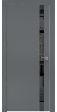Межкомнатная дверь ZM007 (экошпон «графит» / зеркало тонированное) — 0907