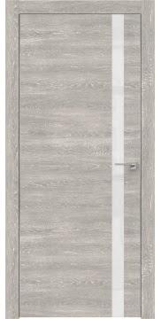 Межкомнатная дверь ZM007 (экошпон «серый дуб патина» / лакобель белый) — 0547