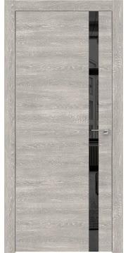 Межкомнатная дверь ZM007 (экошпон «серый дуб патина» / зеркало тонированное) — 0912