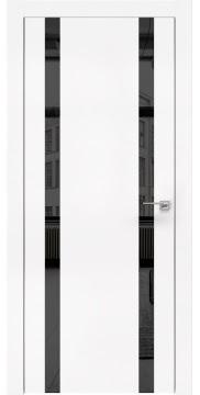 Межкомнатная дверь, ZM008 (экошпон белый, зеркало тонированное, алюминиевая кромка)