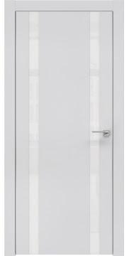 Межкомнатная дверь ZM008 (экошпон светло-серый / лакобель белый) — 0617