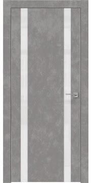Межкомнатная дверь ZM008 (экошпон «бетон» / лакобель белый) — 0924